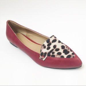 FLASH SALE‼️ Ollio Ballet Shoe Leopard Point Flats